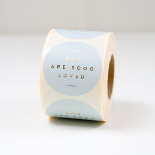 Cadeau sticker Blauw You are sooo loved