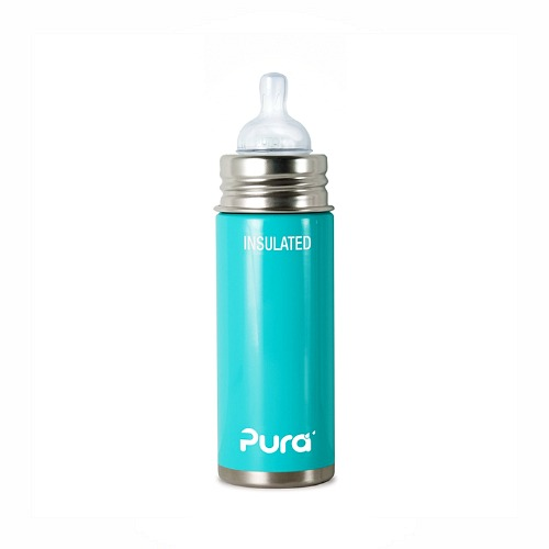 Baby thermosfles RVS Pura Blauw 250ml