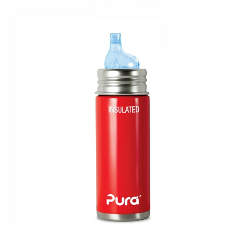 Babyfles RVS 250ml Pura Rood Thermo