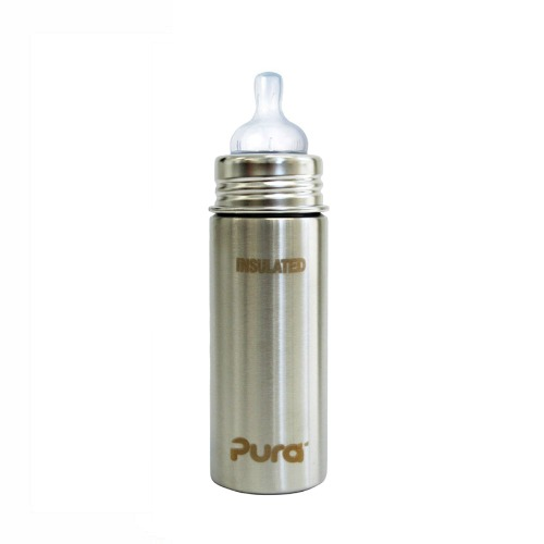 Babyfles RVS 250ml Pura Staal Thermo