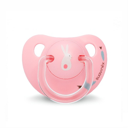 Latex fopspeen 0-6 Suavinex Roze | Dental Bunny