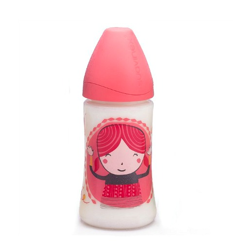 Babyfles Suavinex 360ml Rood Girl