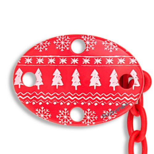 Fopspeenketting Winter Wishes Rood