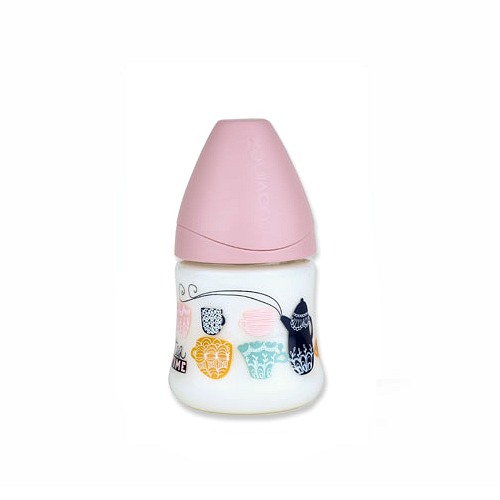 Babyfles Suavinex 150ml Roze Tea Time
